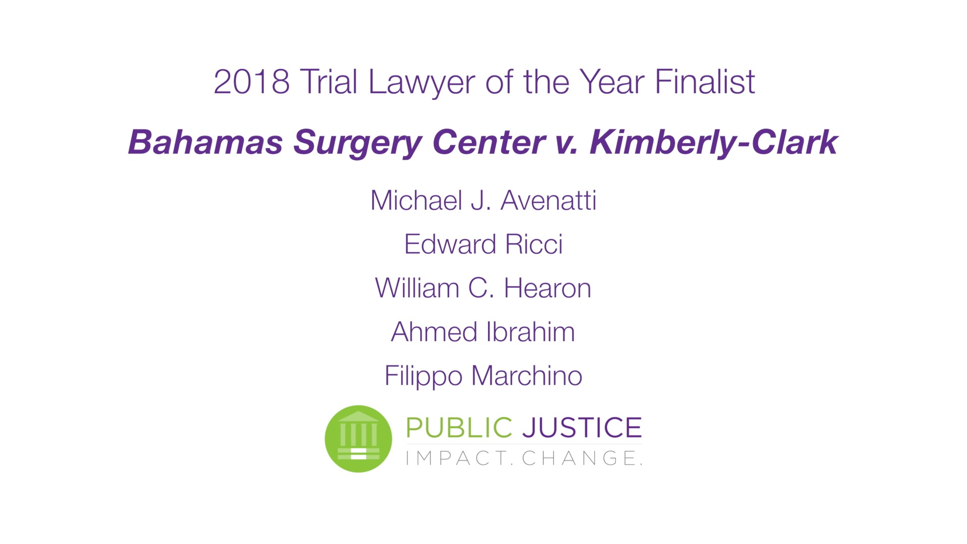 Trial Lawyer of the Year 2018