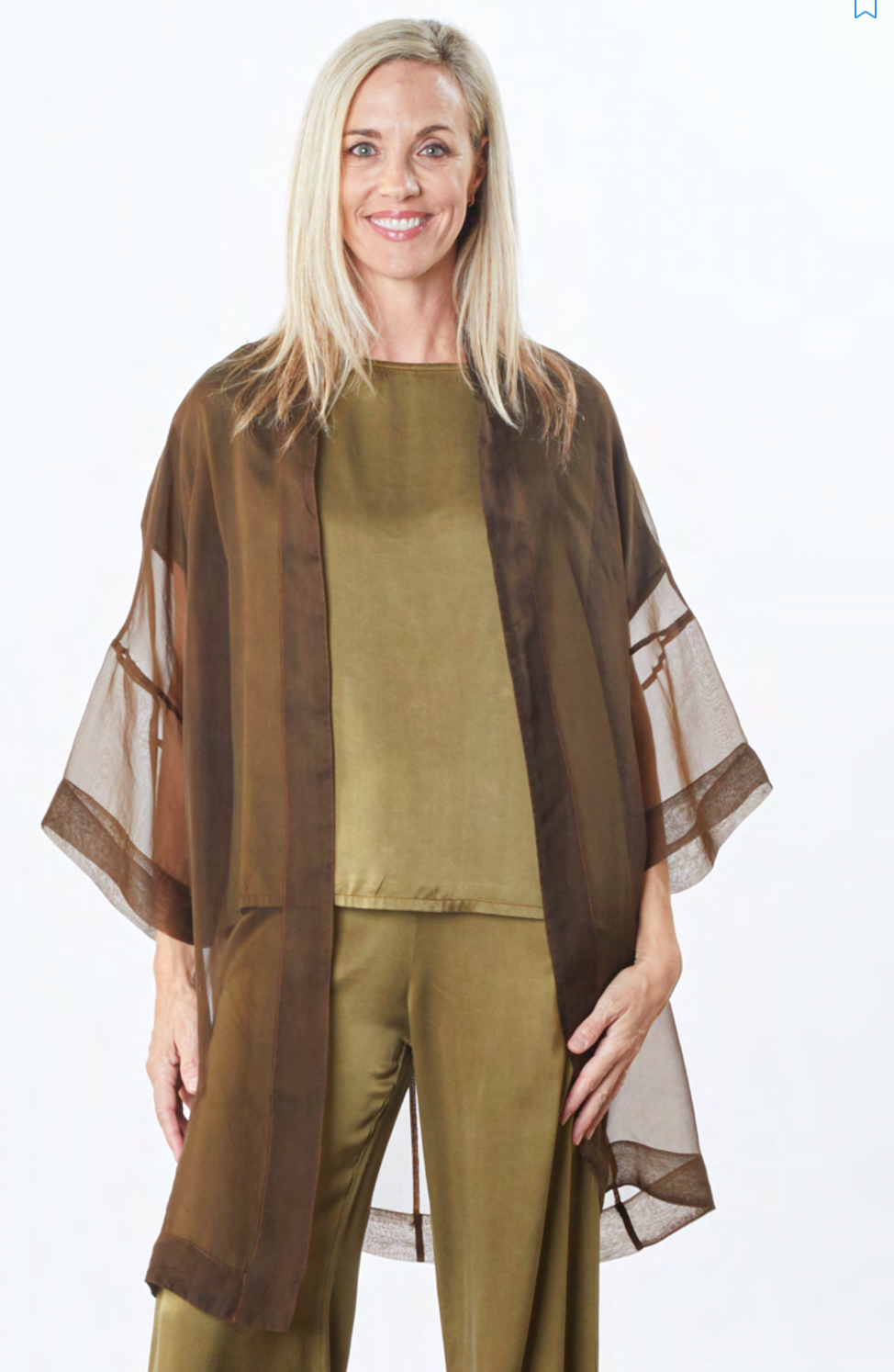 Bryn, Walker, usa, california, fashion, collection, brand, american, local, made, in, berkely, ladies, wear, ladieswear, ss2021, 2021, spring, summer, silk, pant, top, olive, jacket, over
