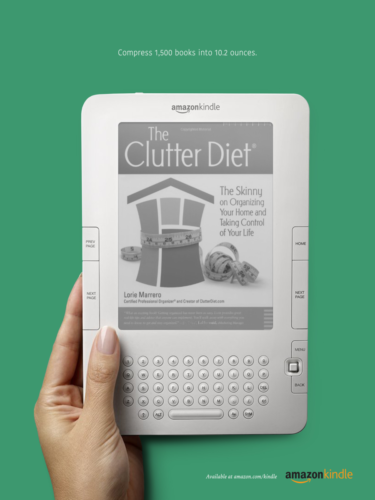 kindle print clutter diet