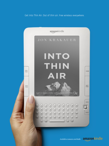 kindle print thin air