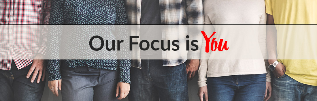 Our Focus is You Rotating Web Banner
