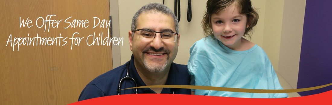 Pediatric Department Same Day Appointments Rotatin Web Banner