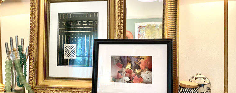 Use An Old Gilded Picture Frame For African Mudcloth