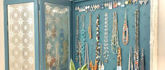 Create A Jewelry Display From An Old Church Bulletin Board