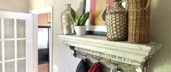 Turn An Old Mantel Into A Laundry Room Clothing Hanger