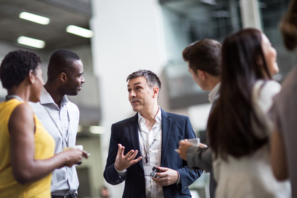 Business executives meeting at a networking event