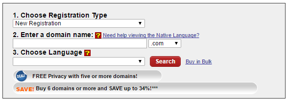 Internationalized Domain Name Registration