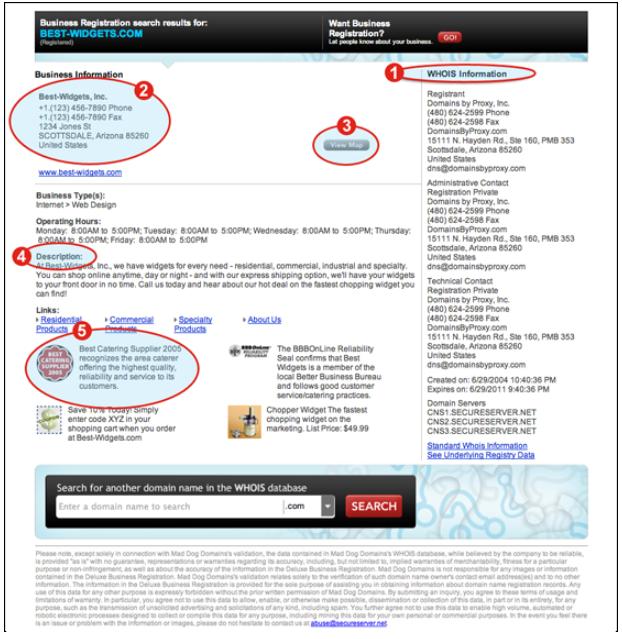 business registration sample