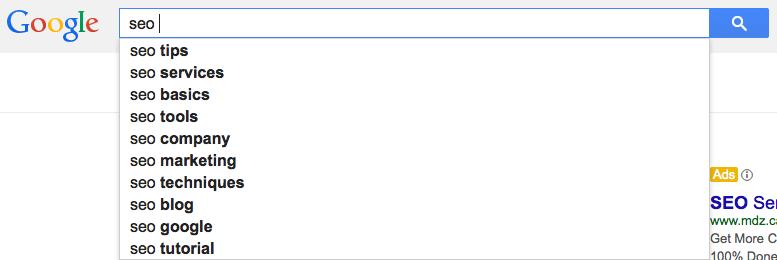 google-suggest-optimization