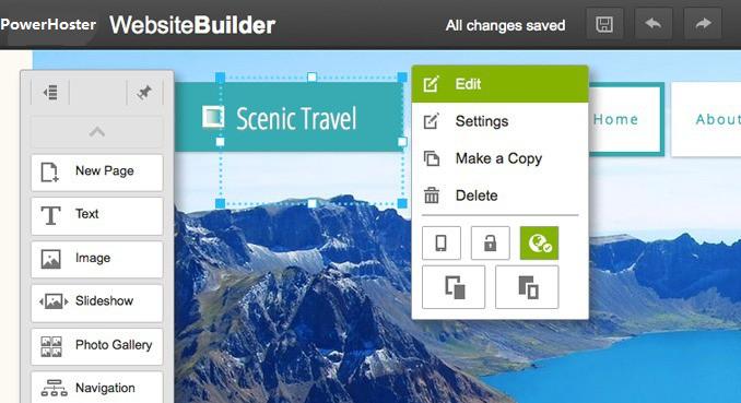 website builder theme
