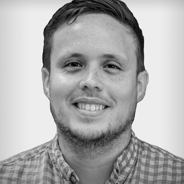 Black and white profile photo of Edwin Rosado Olivieri