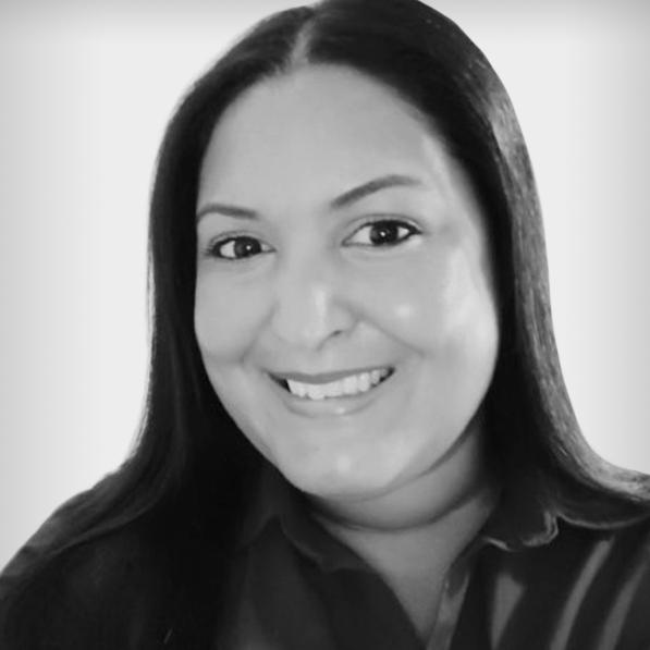 Black and white profile photo of Yudelka Ogando