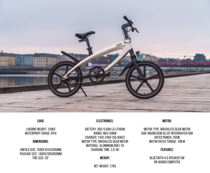 KVAERN e-bike & KVAERN+ power pack let you charge your bike with the sun