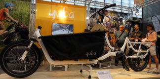 2019 Yuba Electric Supermarche dutch style e-cargo bike has one of the highest cargo capacities ever