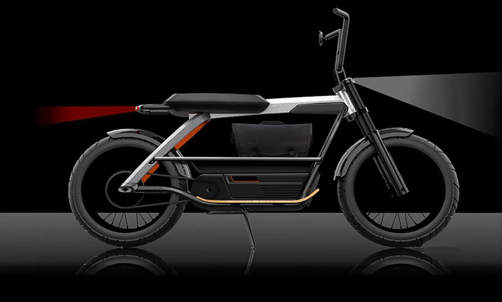 concept electric harley-davidson scooter or moped