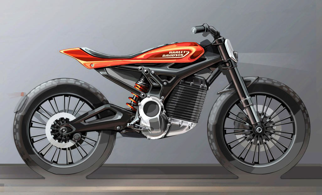 prototype harley-davidson electric motorcycle concept