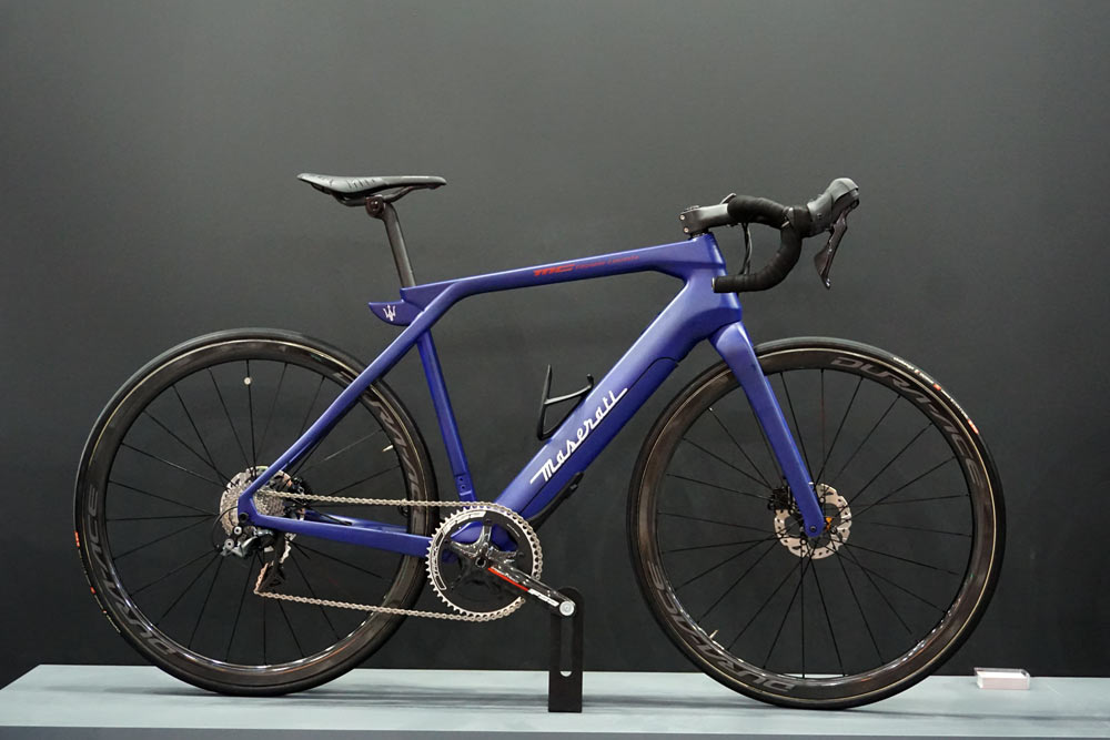 maserati ebikes with pininfarina design debut at eurobike 2018 with eMTB e-road bikes and electric assist commuter bicycles