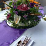 Centro de mesa en flores tropicales