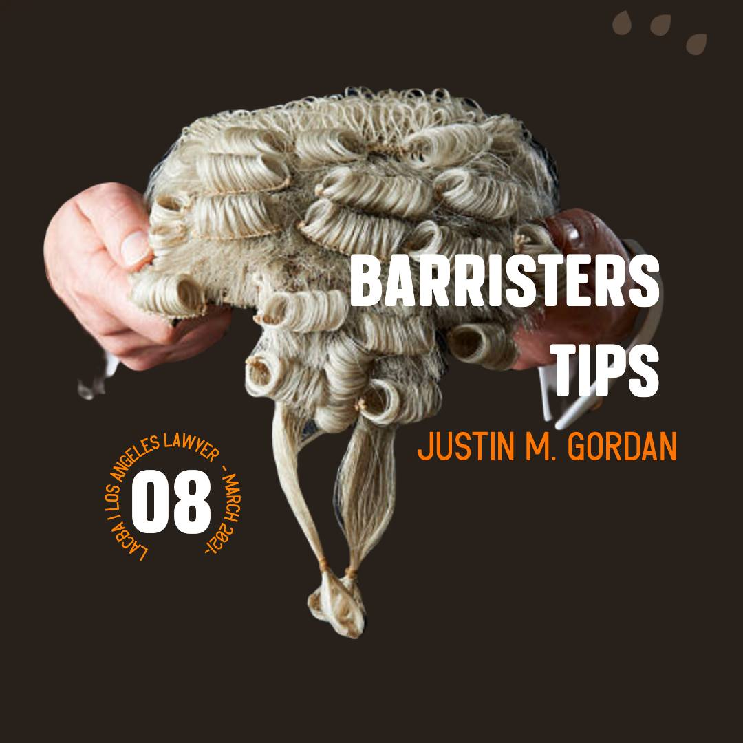 Barrister Tips – March 2021