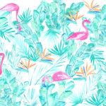 Custom Watercolor Flamingo Fabric