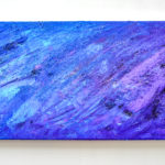 Abstract Acrylic Painting Blue Purple Glitter