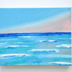 Beach Acrylic Painting Pastel Sunset
