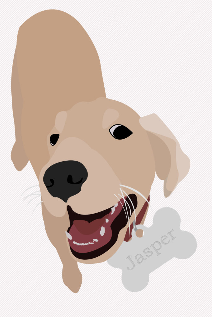 Golden Retriever Puppy Illustration