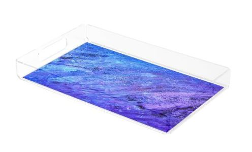Abstract Painting Tray