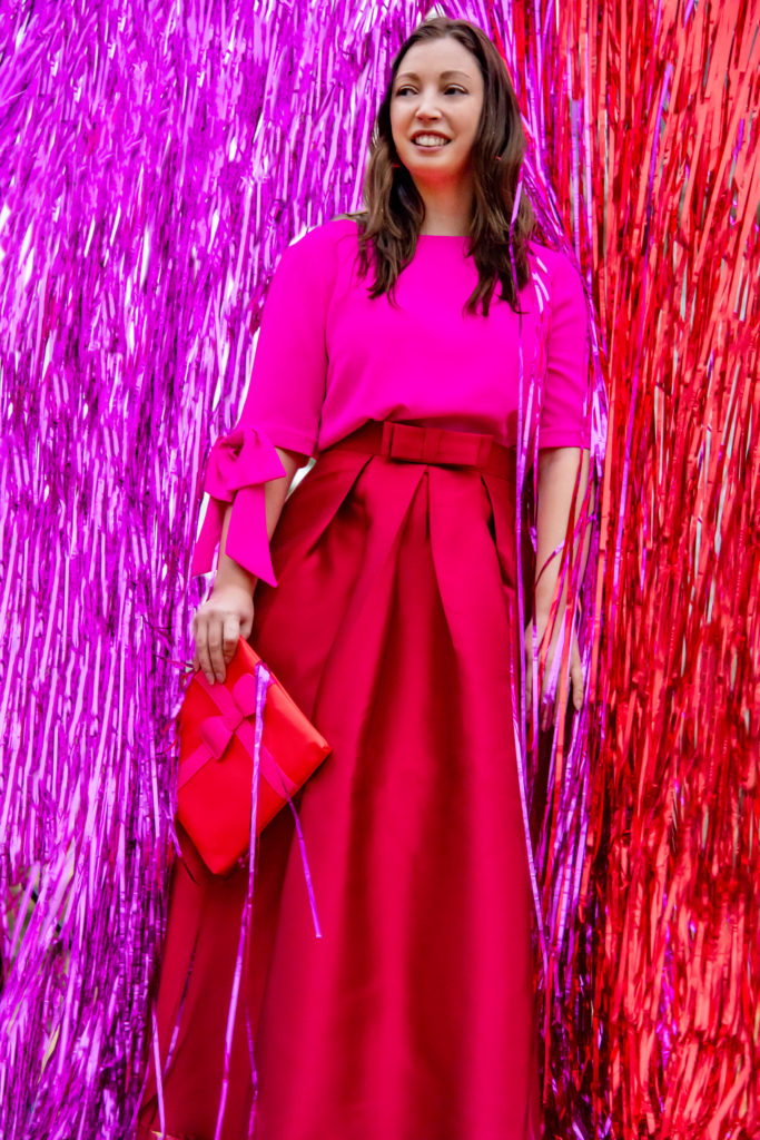 Pink and Red Fashion Portrait