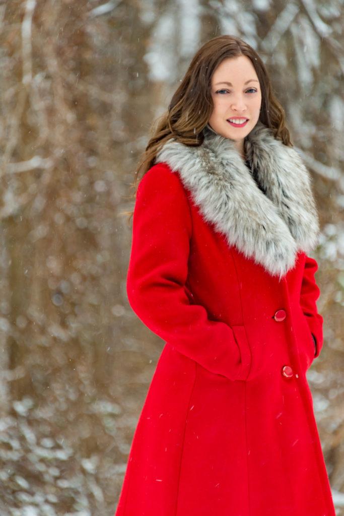Red Kate Spade Coat
