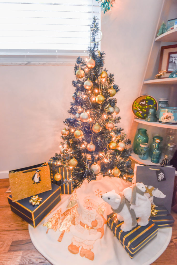 Navy and Gold Christmas Decor