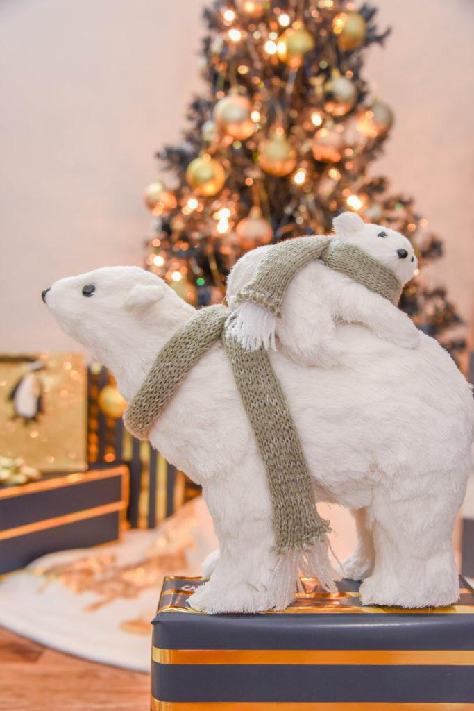 Navy and Gold Christmas Decor
