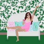 Lilly Pulitzer Backyard Celebration Digital Portrait
