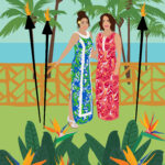 Lilly Pulitzer Hawaiian Digital Portrait