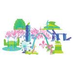 Saint Louis Digital Illustration Landmark Pattern