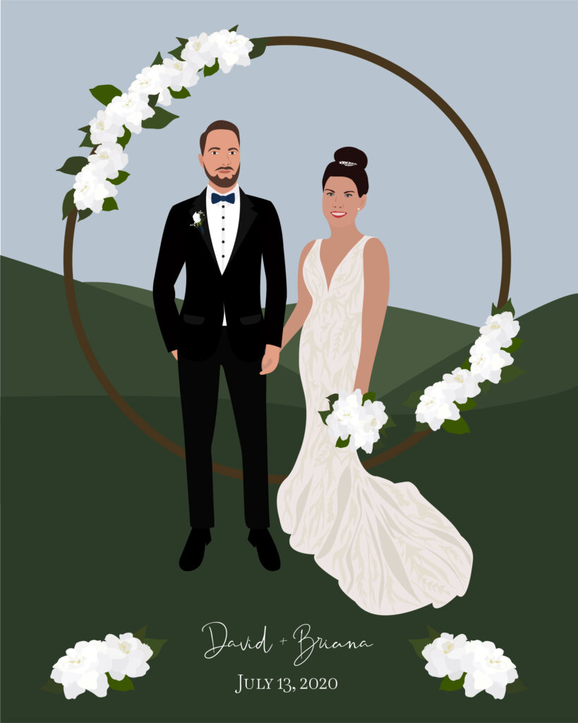 Custom Digital Wedding Portrait