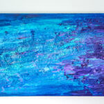 Abstract Acrylic Painting with Glitter