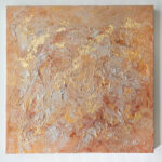 Abstract Acrylic Painting with Gold Leaf