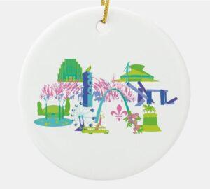 St. Louis Landmark Illustrated Ornament