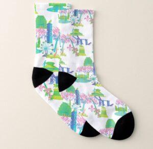 St. Louis Landmark Illustrated Socks
