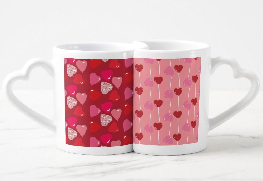 Valentine's Day Illustrated Mugs