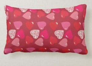 Valentine's Day Illustrated Pillow