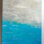 Abstract Beach Glitter Acrylic Painting