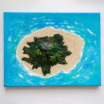 Island Acrylic 3D Painting