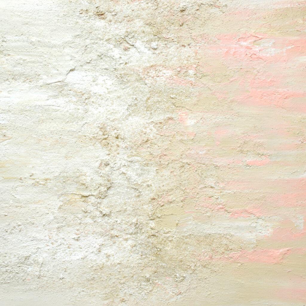 Abstract Tan Pink Acrylic Painting