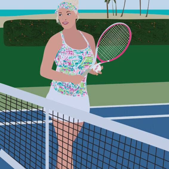 Tennis Portrait Illustration