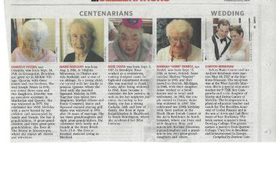 Apex Rehab Resident Rose Costa's 101st Birthday Makes the News