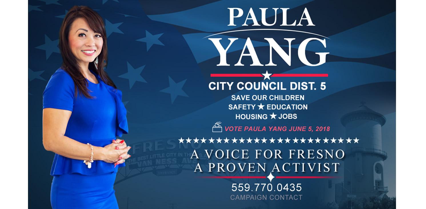 PAULA YANG RUNS OF FRESNO RUNS FOR CITY COUNCIL DISTRICT 5