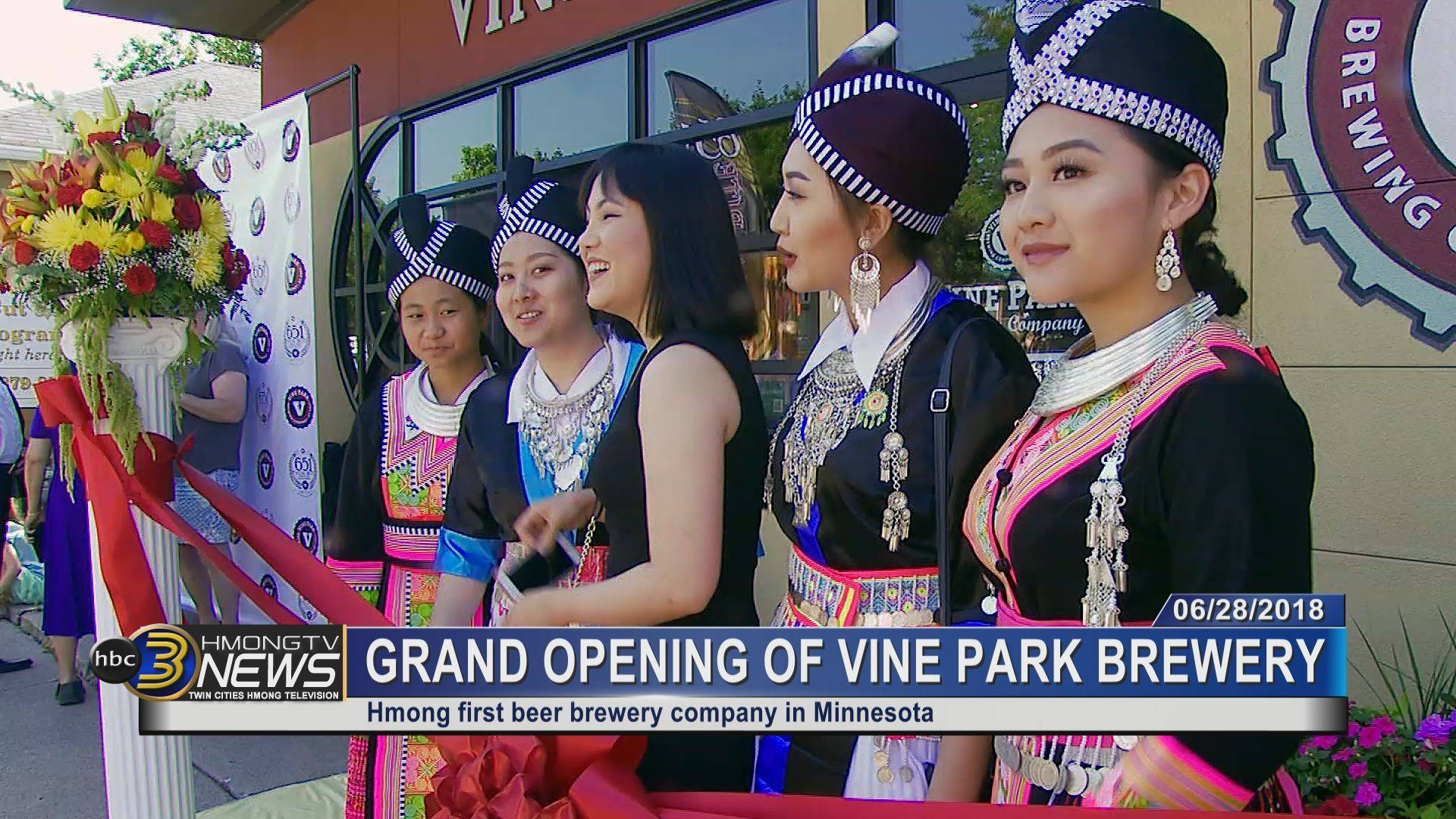 Grand opening of Vine Park Brewery, first Hmong beer brewing company in Minnesota