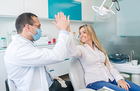 A woman and her dentist